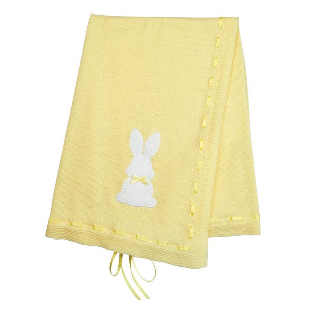 A3524L Bunny Shawl with Ribbon